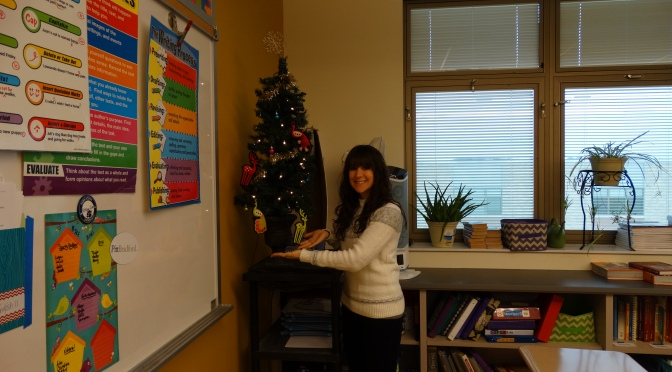 EHS Journalism adviser, Ms. Howe enjoys Christmas