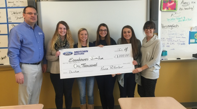 Eisenhower Journalism Goes Further to Win $1,000 for Organization