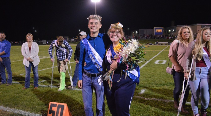 Crowning the Homecoming King and Queen